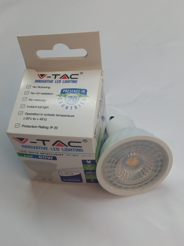 Bec Spot led 6,5W GU10 3000K imagine 1